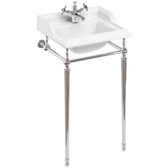 Burlington Classic Square Washstand with Small 50cm Basin