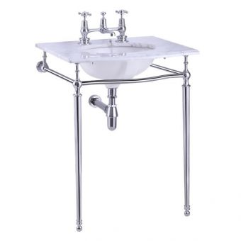 Burlington Sophia Georgian Basin with Chrome Washstand
