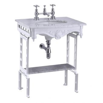 Burlington Sophia Georgian Basin with Aluminium Washstand