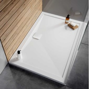 Crosswater 25mm Kai Stone Resin Rectangular Shower Tray