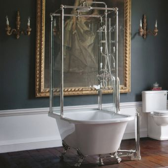 Arcade Royal Single Ended Freestanding Bath with Shower Temple
