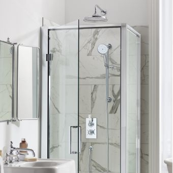 Arcade Trent Concealed Shower Set with Overhead and Handset