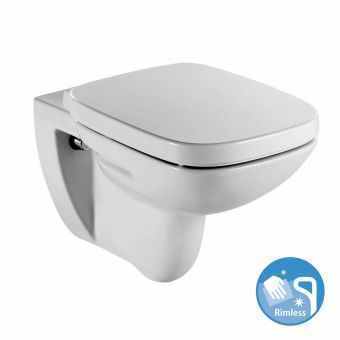 Roca Debba Rimless Wall Hung Toilet