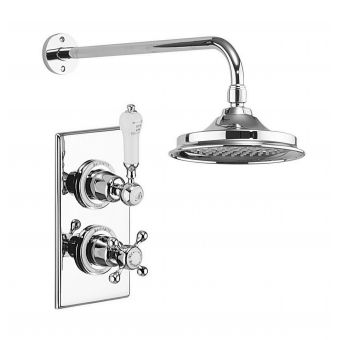 Burlington Trent Fixed Head Concealed Shower with Claremont Handles