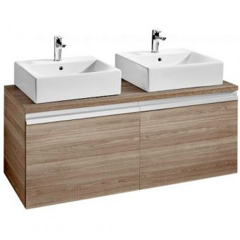Roca Heima 1200 Two Drawer Base Unit for Two Basins