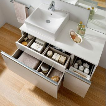 Roca Heima 1105 Two Drawer Base Unit for One Basin