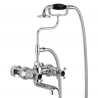 Burlington Tay Wall Mounted Bath Shower Mixer Tap with Handset