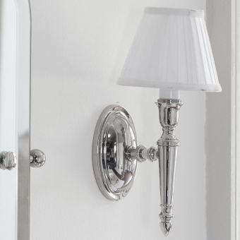 Arcade Fine White Pleat Shade Bathroom Light - ELAL12
