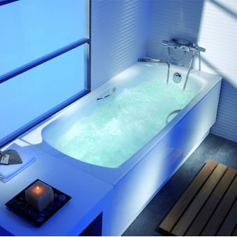 Roca Swing Steel Bath with Antislip