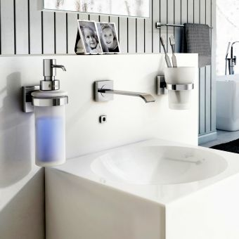 Smedbo House Wall Mounted Glass Soap Dispenser