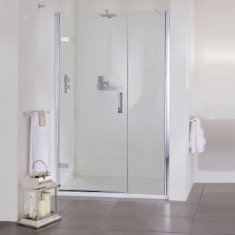 Aqata Spectra SP457 Hinged Shower Door with Inline Panel