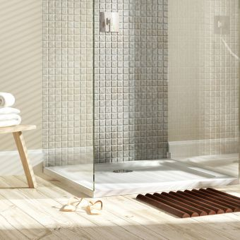 MX Elements Square Shower Tray with Waste