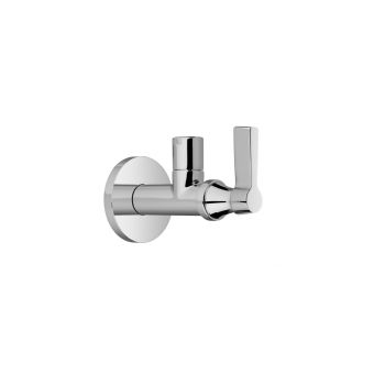 Samuel Heath Style Moderne Angled Wall Valve with Metal Lever