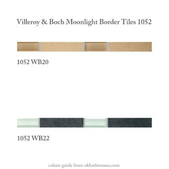 V & B Moonlight Border Tile 1052 (2.5 x 30cm)