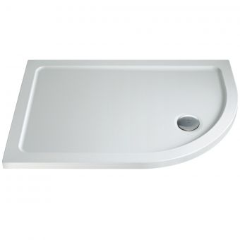 MX Elements Offset Quadrant Shower Tray with Waste