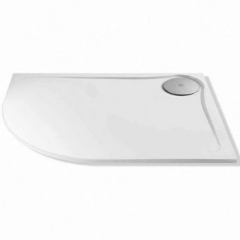 MX Optimum Offset Quadrant Shower Tray with Waste