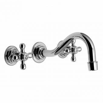 Vado Victoriana 3 Hole Wall Mounted Basin Mixer