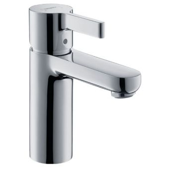 hansgrohe Metris S 100 LowFlow Basin Mixer with PUW