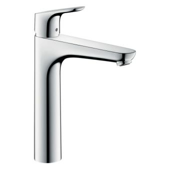hansgrohe Focus 190 Tall Basin Mixer with Pop up Waste