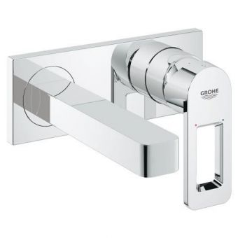 Grohe Quadra Wall Mounted Basin Mixer with Concealed Set