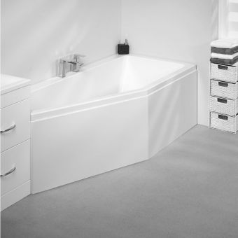 Carron Spacesaver 1700x750mm Single Ended Bath - Carronite Left Hand