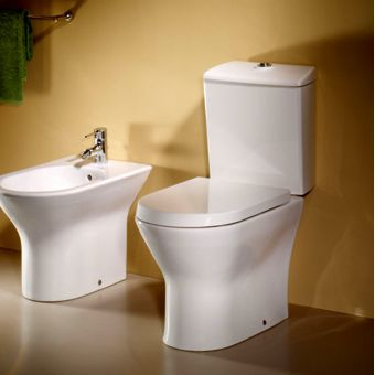 roca the gap cleanrim close coupled toilet uk bathrooms. Black Bedroom Furniture Sets. Home Design Ideas