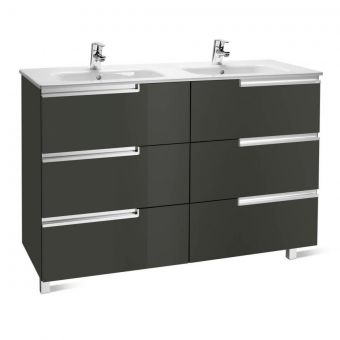 Roca Victoria-N 1200mm Double Base Unit (Anthracite Grey) and 1200mm Basin