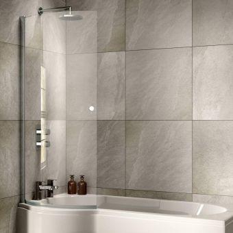 Sommer P Curved Bath Screen - SOB51