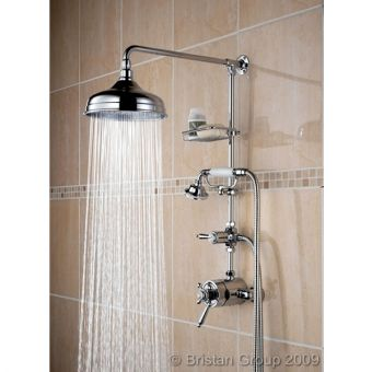 Bristan Trinity Traditional Shower Mixer With Fixed Head & Diverter