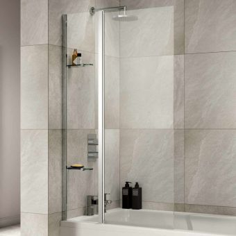 Sommer Extended Square Bath Screen with Fixed Panel - SOB57