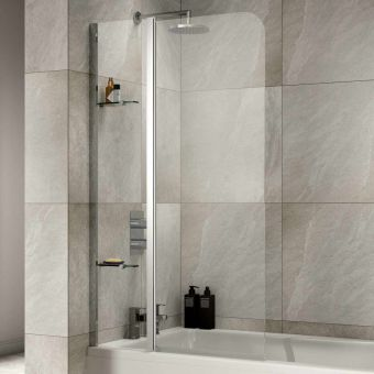 Sommer Extended Half Radius Bath Screen with Fixed Panel - SOB56
