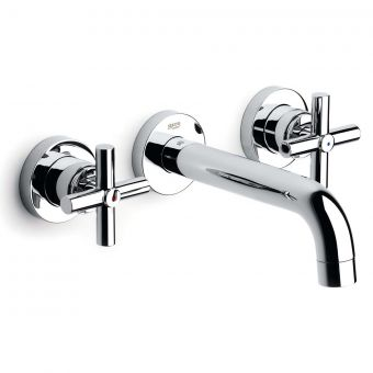 Roca Loft Wall Mounted Basin Mixer Tap with 190mm Spout