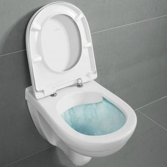 Villeroy & Boch O.Novo Wall Hung DirectFlush Toilet with Soft Close Seat