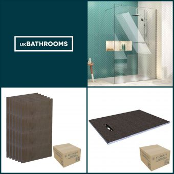 Origins Linear Wet Room Shower Pack 1