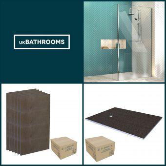 Origins Square Wet Room Shower Pack 5 - M8SW241SV