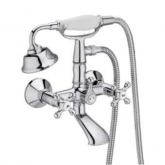Roca Carmen Wall-mounted Bath Filler with Shower Handset