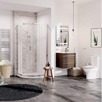 Crosswater Essentials Family Bathroom Package