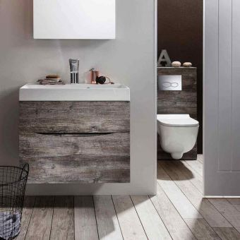 Bauhaus Glide II Wall Hung Vanity Unit and Mineral Marble Basin