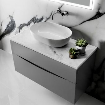 Crosswater Glide II Wall Hung Vanity Unit and Marble Worktop