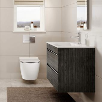 Crosswater Kai X Double Drawer Basin Unit