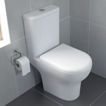 VitrA Zentrum Rimless Close Coupled Open Back WC