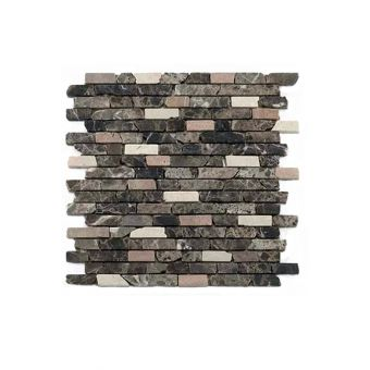 Abacus Natural Stone Random Mixed Brown Pencil Tile 30.5 x 30.5cm