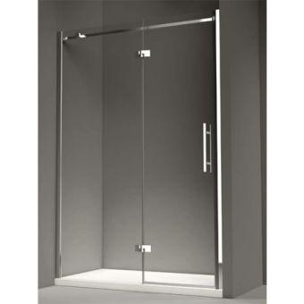 Merlyn Series 9 1200mm Hinged Shower Door with In-Line Panel -Left Hand