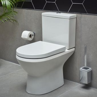 VitrA Integra Close Coupled Rimless Open Back Toilet