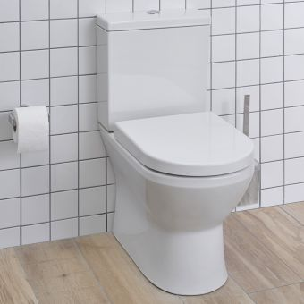 VitrA Integra Close Coupled Rimless Back to Wall Toilet