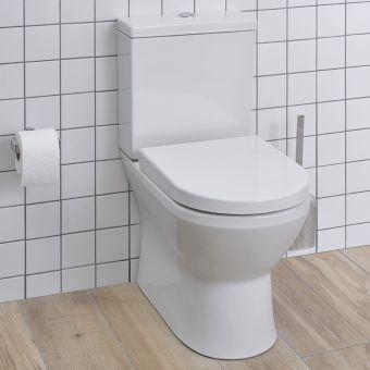 VitrA Integra Close Coupled Rimless Back to Wall Toilet - 70430030585