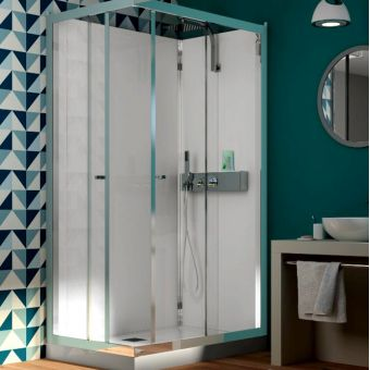 Kinedo Eden Corner Shower Cubicle with Sliding Doors