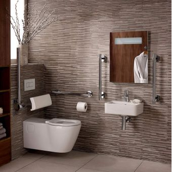 Ideal Standard Concept Freedom 40cm Cube Basin Package with Extended Wall Hung Pan - S6404AA