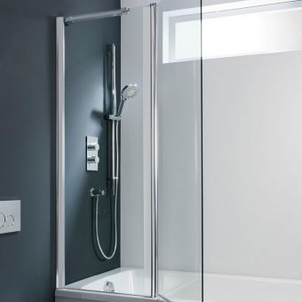 Simpsons Design Design Double Bath Screen - Outward Opening