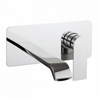 Crosswater Dune 2 Hole Wall Mounted Basin Mixer Tap